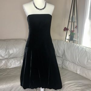 NEW! Ralph Lauren Strapless Velvet Dress - 8